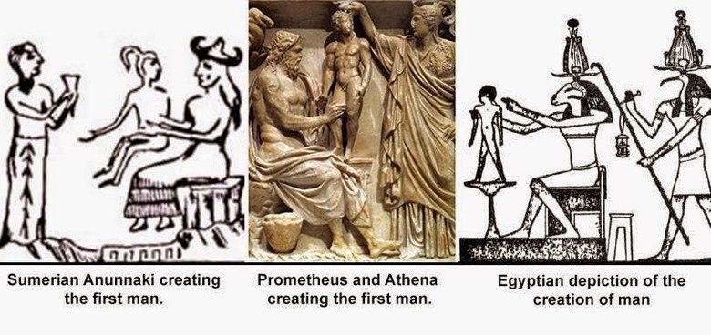 Описание создание человека богами в мифах самых разных культур очень схоже