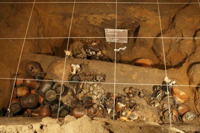Артефакты найденные под пирамидой Пернатого змея