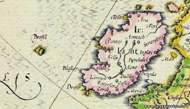 Остров Хай-Бразил на карте 1325 г.