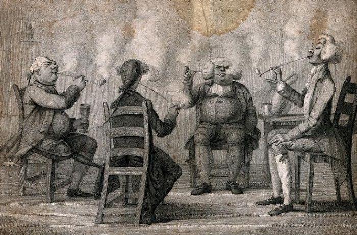 В Средние века курение преследовалось католической церковью.