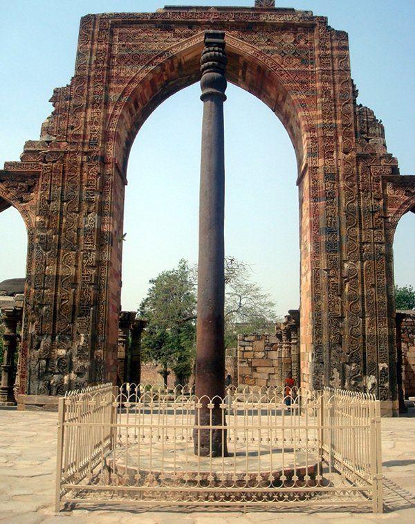 Колонна в Индии на 98 процентов состоит из чистейшего железа очень высокого качества. Считается, что колонна отлита из одного цельного куска железа