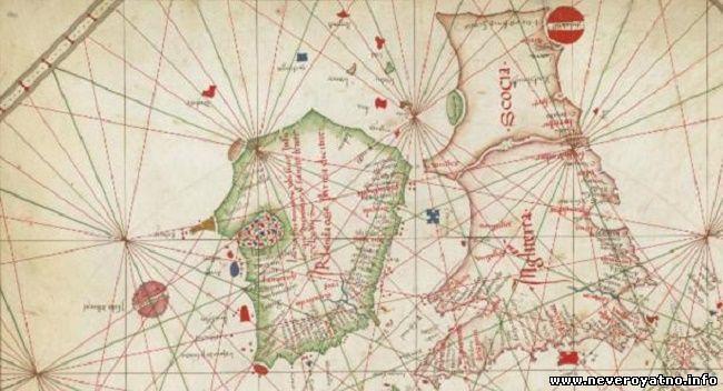 На схеме морских путей Западной Европы (1473 г.) остров Хай-Бразил имеет круглую форму.