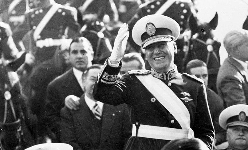 Покровитель беглых нацистов президент Аргентины Хуан Перон