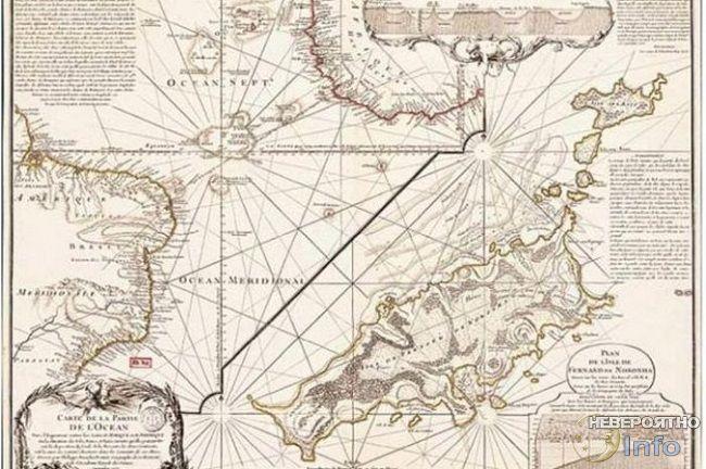Карта Антарктиды Филиппа Буше, выгравированная на меди (63,5 х 48,3 см).