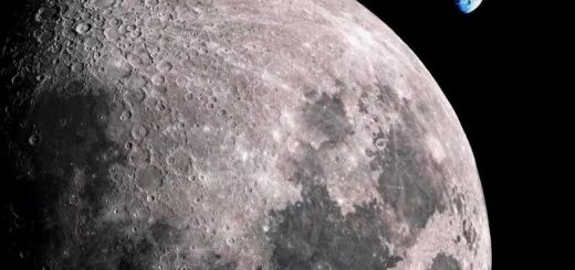 фотография луны и земли