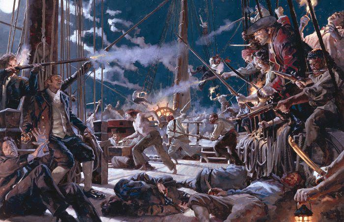 Особенно страшны пираты были в ближнем бою. Их излюбленный прием – абордаж
