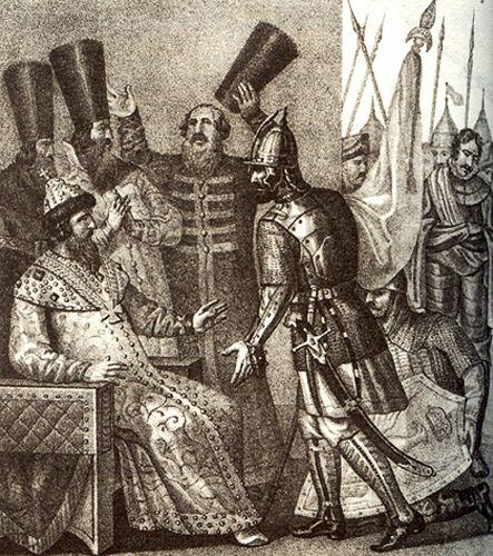 Великий князь получает сообщение о победе