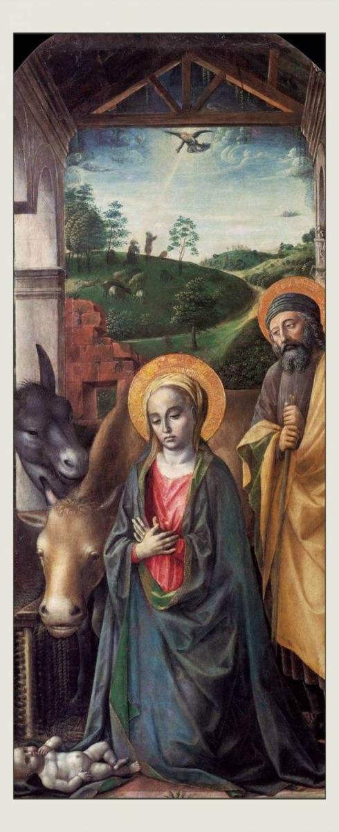 «Благоговение младенца Иисуса» Винценцо Фоппа, XV век. Фото: Wikimedia Commons