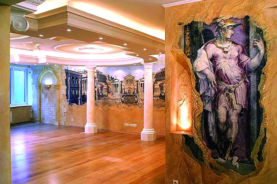 ремонт в квартире с использованием живописи
