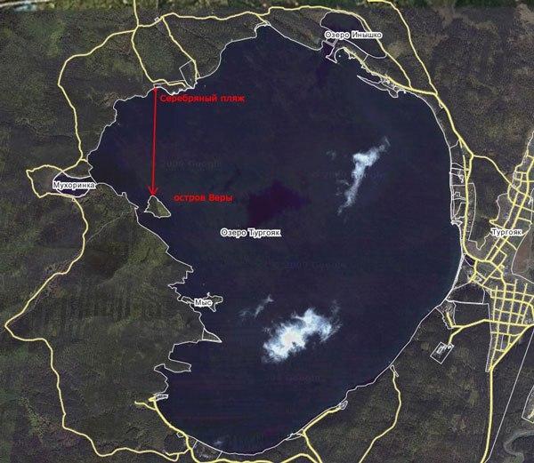 Остров веры. Озеро Тургояк