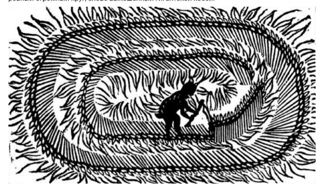 Брошюра из 1678 года по-своему объясняет появление кругов на полях