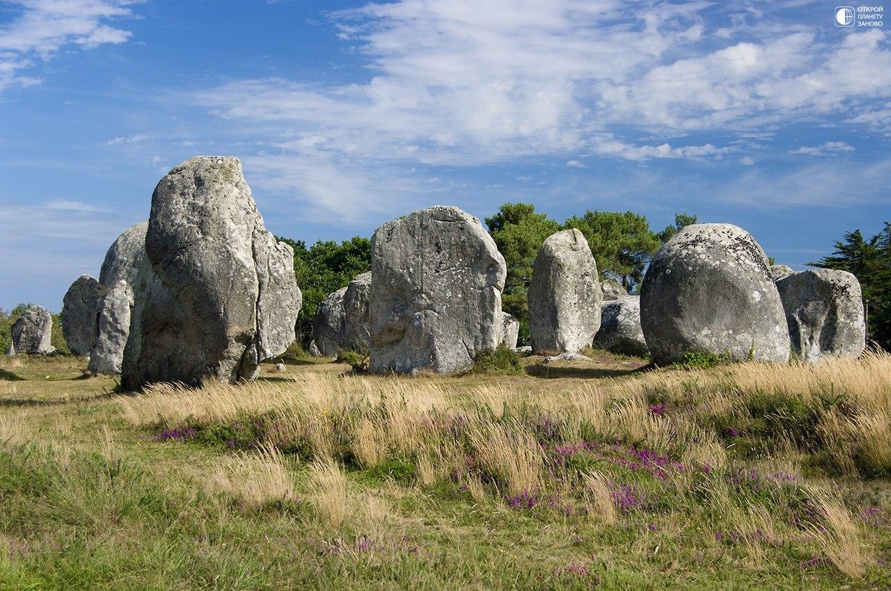 мегалитические сооружения северо-западной Франции