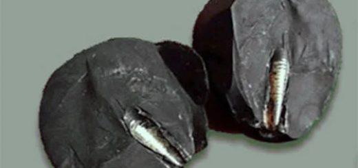Артефакт был найден в китайский горах под названием Мазонг. Внутри черного камня археологи обнаружили странный предмет, который сразу их заинтересовал. Оказалось, это металлический стержень с резьбой, похожий на ту, которая на шурупах. Очевидно, что стержень создавали рукотворно, но только кто?... Как и с подобными находками, эту оценили в несколько миллионов лет, так как камень образовался вокруг стержня.