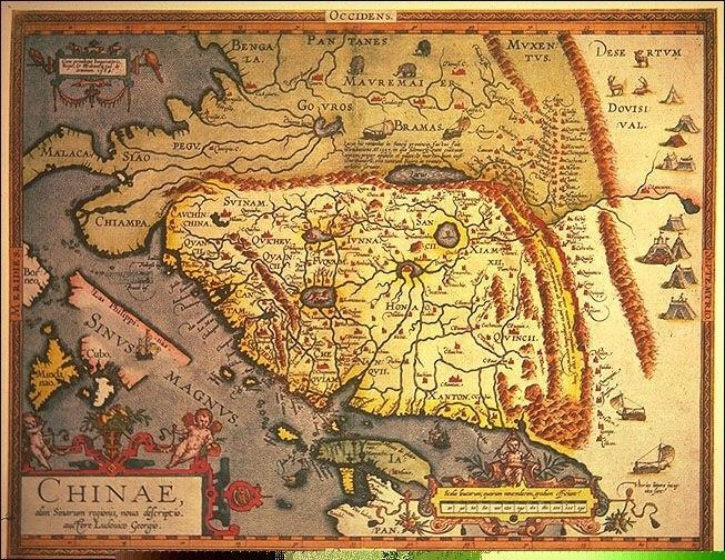 карта Абрахама Ортелия