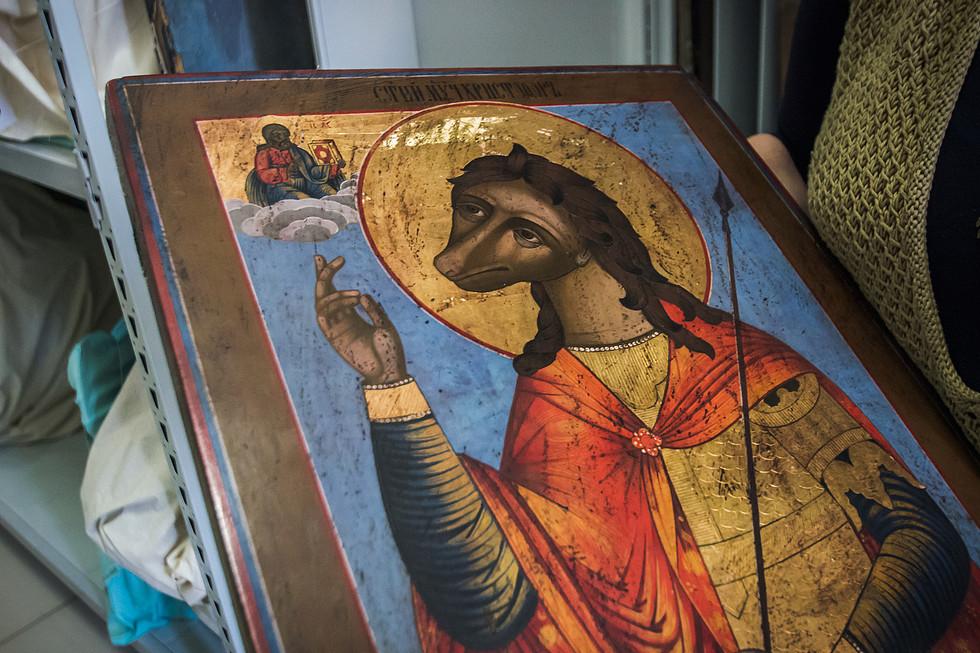 Жития святых в искусстве: Святой Христофор