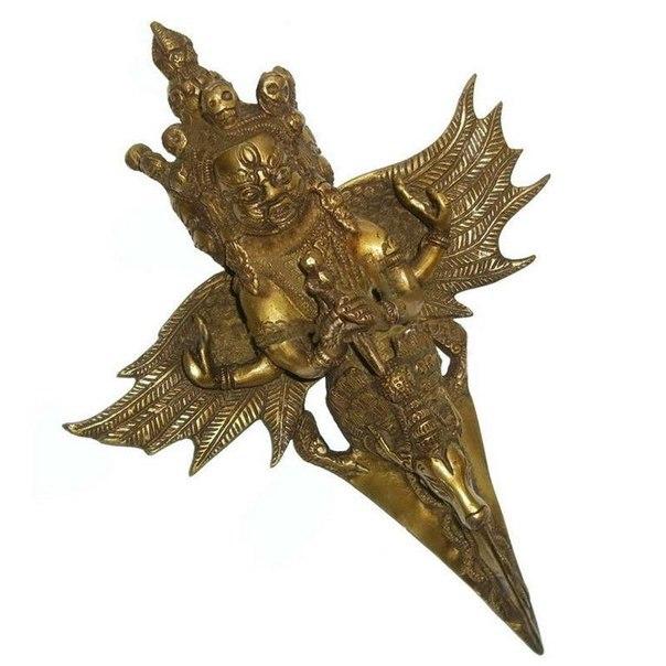 тибетский ритуальный кинжал пхурба