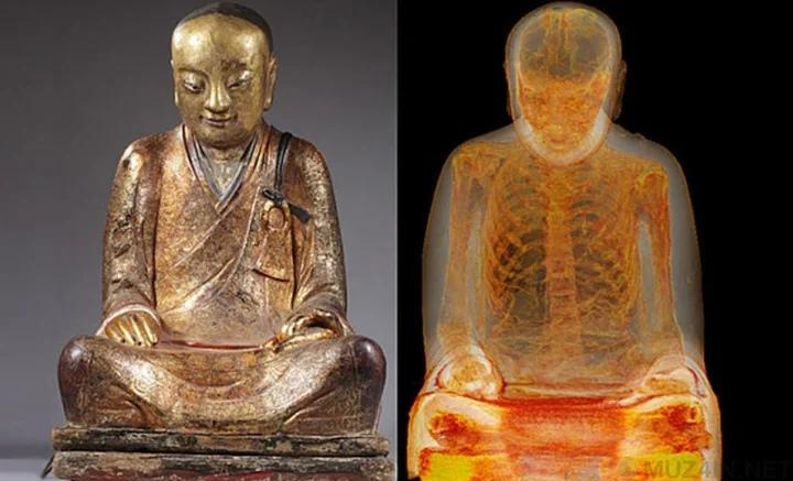 Внутри статуи Будды был найден скелет мумифицированного монаха