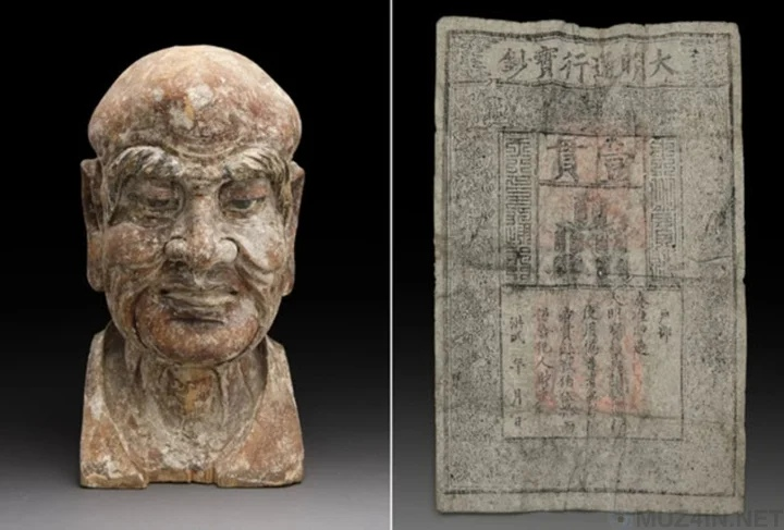Внутри древней китайской статуи были найдены деньги