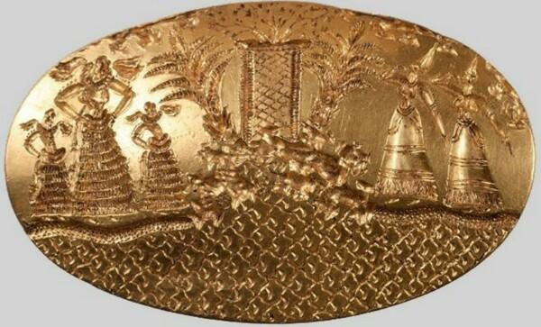 Золотые кольца воина-грифона