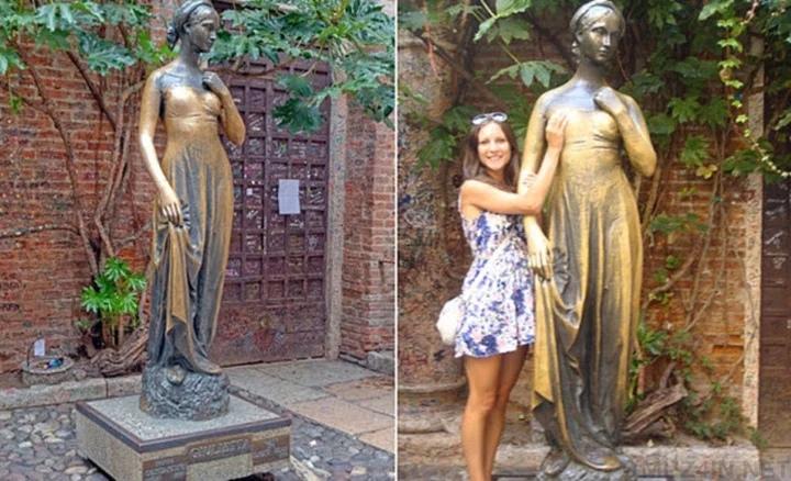 Внутри статуи Джульетты найдены ключи и любовные письма