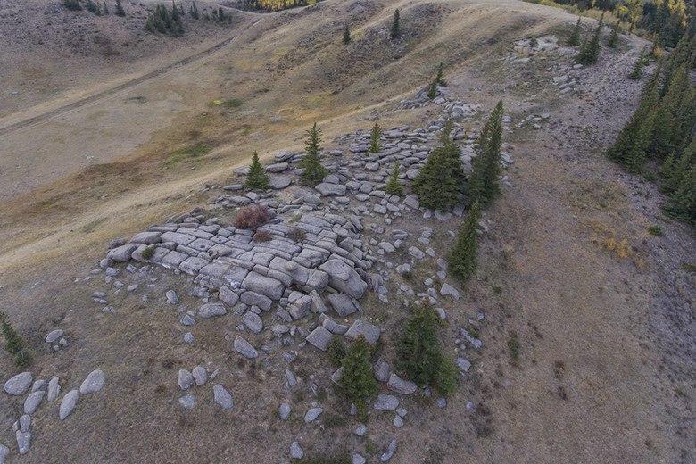 Каменное сооружение в Саскачеване