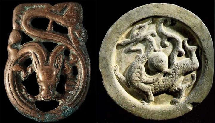 изображения драконов на древних артефактах