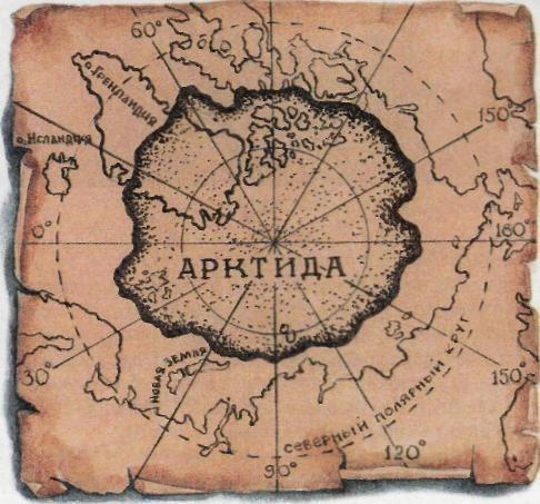 карта древней Антарктиды
