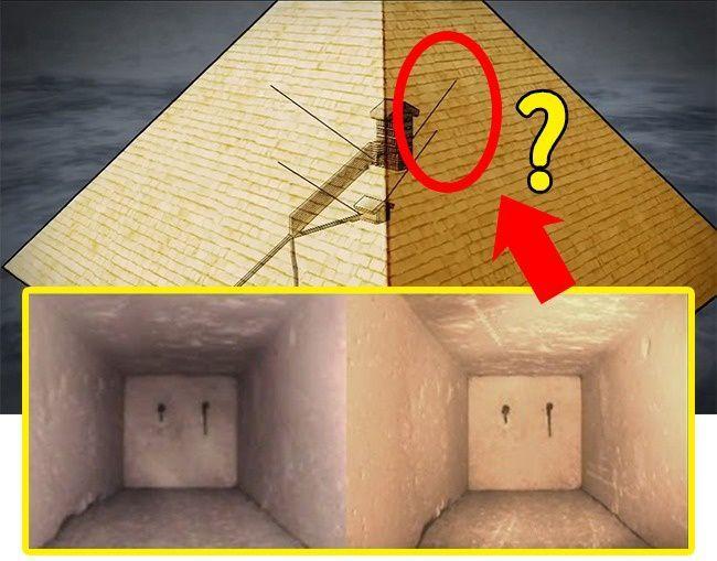 Скрытые комнаты Великой Пирамиды Хеопса