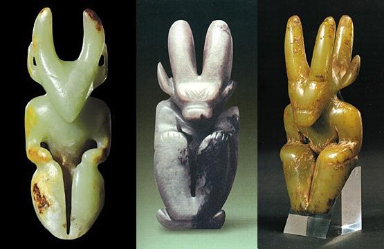 cтранные фигурки культуры Хуншань