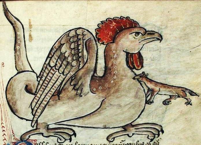 чудовище Василиск из Римских катакомб