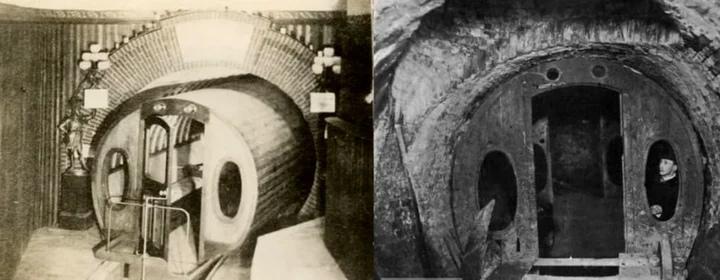 Древнее пневматическое метро