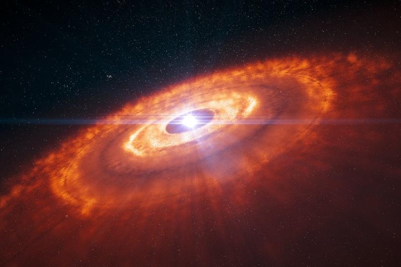 Художественное изображение протопланетного диска.