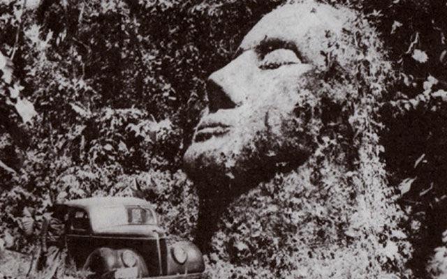 Каменная голова из Гватемалы