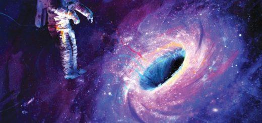 человек в черной дыре
