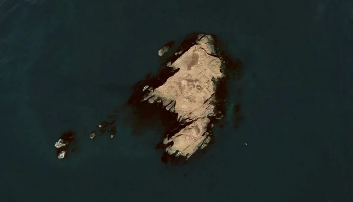 Остров из колонн