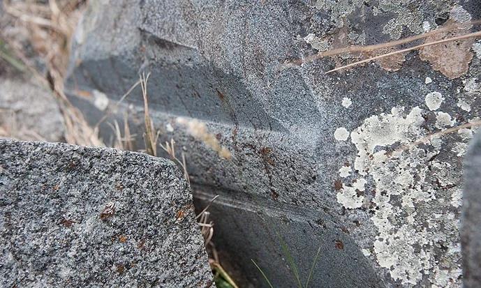 следы обработки на древних камнях в Хаттусе