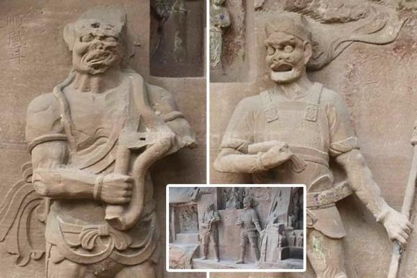 Две необычные китайские скульптуры