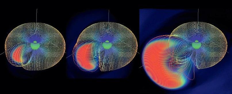 огненный шар, который излучает гамма-кванты и рентгеновские фотоны