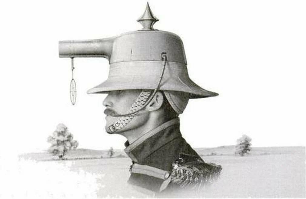 Стреляющий шлем Альберта Прэтта