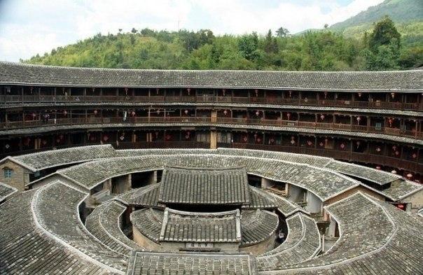 замок тулоу в провинции Фуцзянь