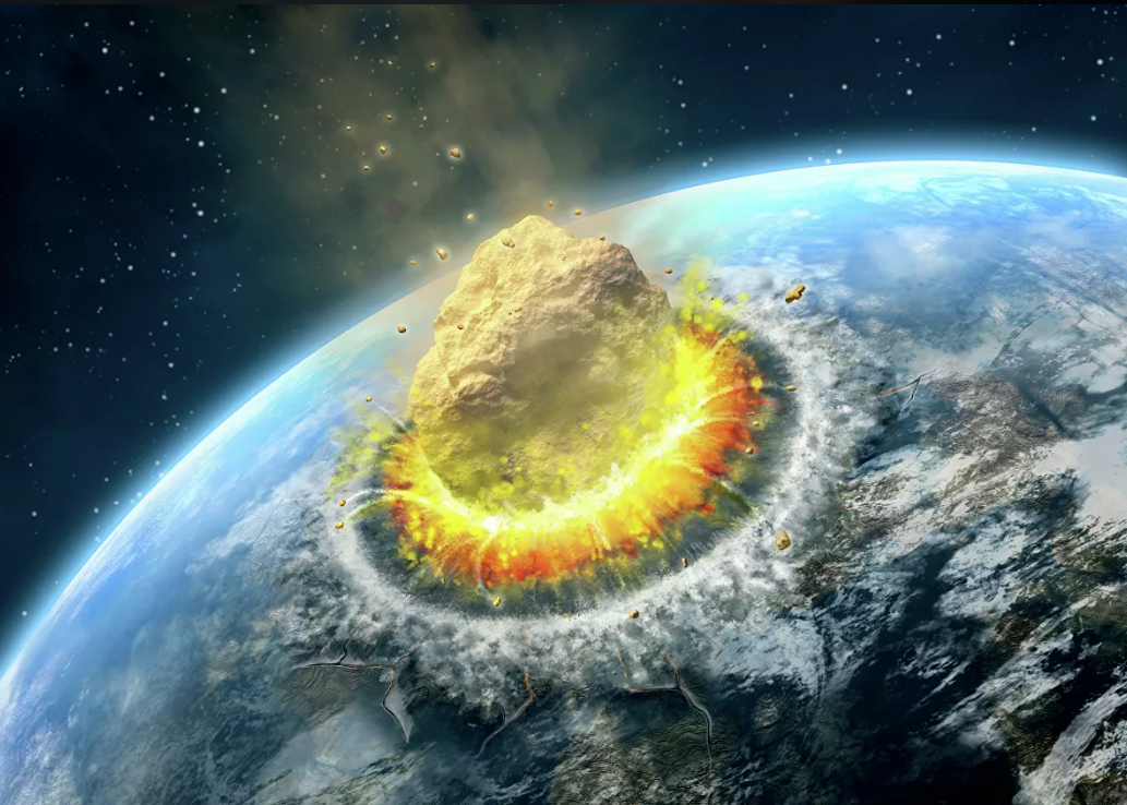 столкновение астероида с Землей