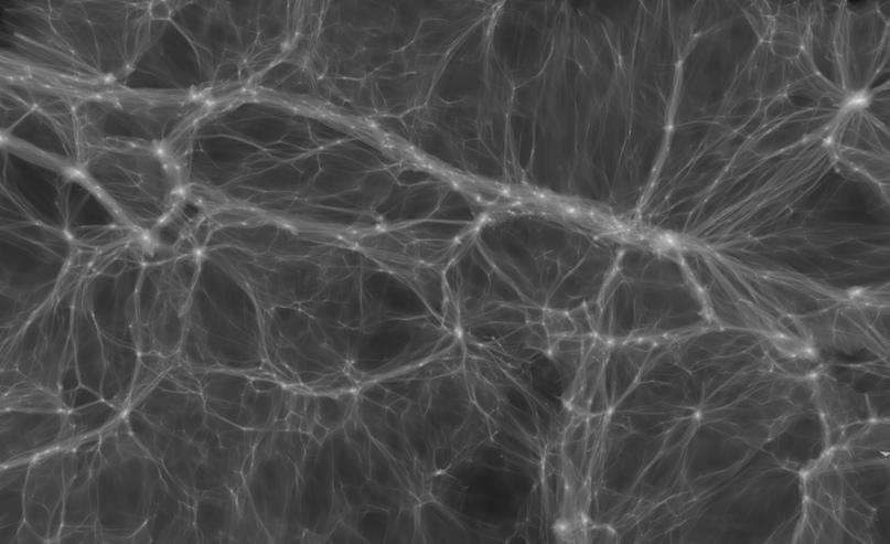 Потоки тёмной материи управляют скапливанием галактик и формированием крупномасштабных структур – это видно в этой симуляции от KIPAC/Stanford