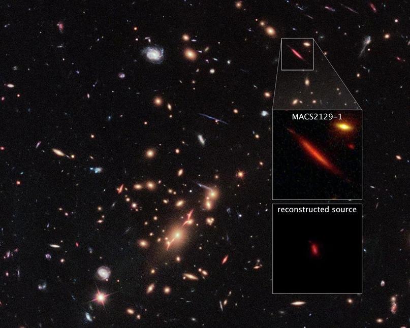 Мертвая галактика MACS 2129-1