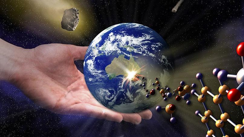 рука с планетой