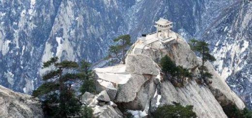 пещеры в китайской горе Хуашань