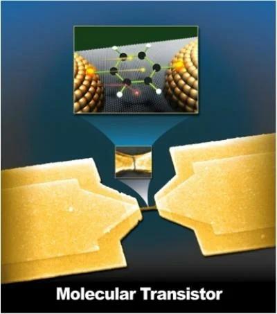 Транзистор, работающий на молекулярном уровне.