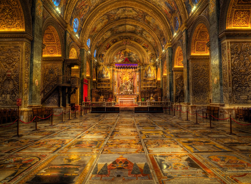 Пол собора Святого Иоанна