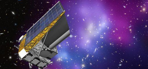 Художественное представление будущего комического аппарата ESA «Euclid», целью которого станет изучение темной энергии и темной материи, а также более точное определение скорости расширения Вселенной.