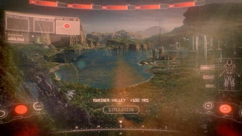 Образ терраформированного Марса из сериала «Пространство»
