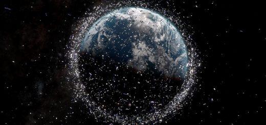 планета Земля окруженная мусором